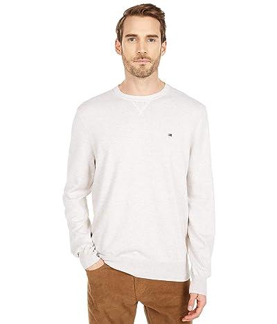 Tommy Hilfiger Signature Solid Crew Neck Sweater (Bright White Heather) Men