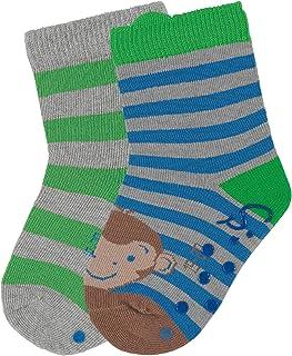 gr/ün blau /Äffchen Jungen Fliesen Flitzer Sterntaler 8031904 Anti-Rutsch-Socken