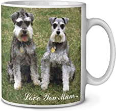 Two Schnauzers 'Love You Mum' Coffee/Tea Mug Christmas Stocking Filler Gift Idea