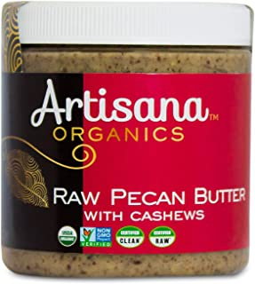 Artisana Organics Raw Pecan Butter with Cashews, 9 oz | No Sugar Added, Just Two Ingredients | Vegan, Paleo and Keto Friendly