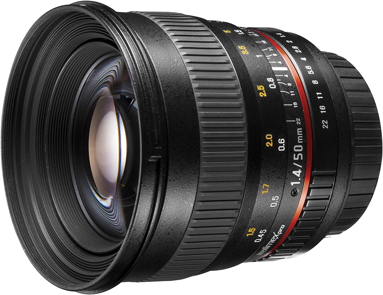 Walimex Pro 50mm 1 1 4 Dslr Porträt Objektiv Für Canon Kamera