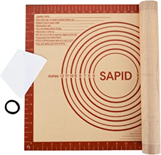 Sapid Extra Thick Silicone Baking Mat Non-stick for Non-slip Silicone Pastry Mat with Measurements, Dough Rolling Large, P...