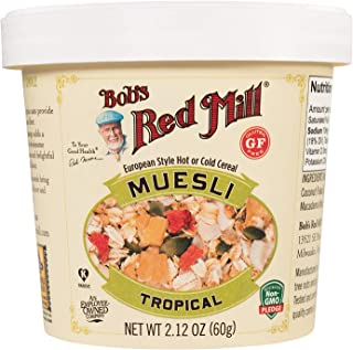 Bob's Red Mill Gluten Free Tropical Muesli Cup, 12 Count (Pack of 12)