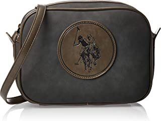 US Polo Womens Horizontal Crossbody Bag, Dark Grey - BIUNE0645WVP104