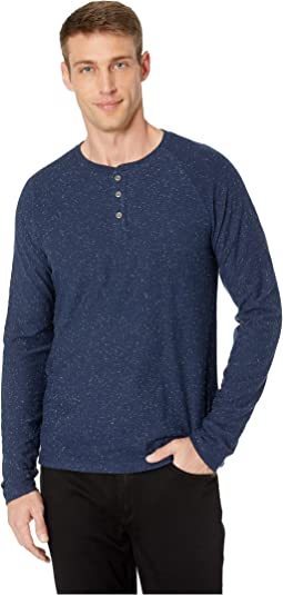 Long Sleeve Snow Heather Henley Tee