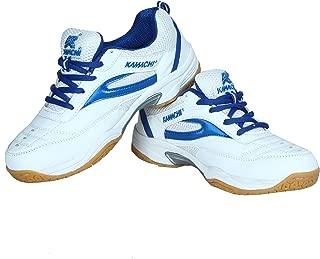 Kamachi Badminton Shoe Size 8 UK (WHITE & BLUE)
