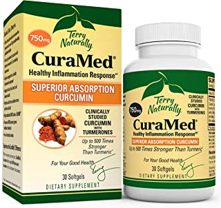 Terry Naturally CuraMed 750 mg - 30 Softgels - Superior Absorption BCM-95 Curcumin Supplement with Turmeric...