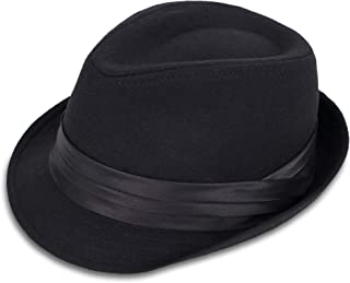 Simplicity Men's Women's Manhattan Structured Gangster Trilby Fedora Hat