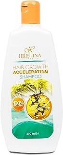 100% natürliches Haarwuchs-Shampoo mit Jojobaöl, Arganöl, Brennnessel und Rosmarin. Feuchtigkeitsspendende, anregende und verdickende Kräuteressenzen. Verhindert trockene Kopfhaut, 400 ml.