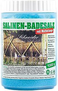 Saunabedarf Schneider - Salinen-Badesalz mit Mutterlauge, Salz für Badewanne, Vorbeugung Gelenkbeschwerden 1000g