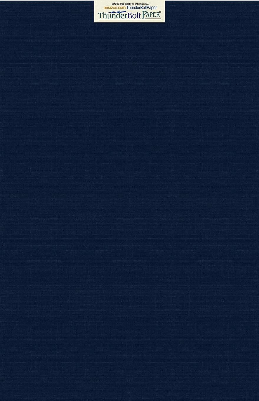 15 Dark Navy Blue Linen 80# Cover Paper Sheets - 12