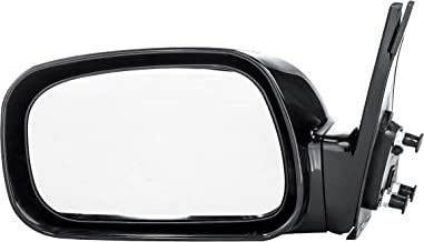 Dependable Direct Left Driver Side Black Power Operated Non-Folding Door Mirror for Toyota Camry USA Built (2002 2003 2004 2005 2006) - Part Link #: TO1320167