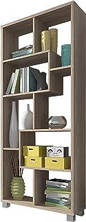 SelectionHome Estantería Multiposición Librería para Salón o Oficina Modelo Deluxe Color Roble Claro Medidas: 685 cm ...