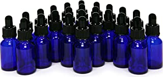 24, Cobalt blue, 15 ml (1/2 oz) Glass Bottles, with Glass Eye Droppers