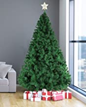 Livebest 8ft Artificial Holiday Christmas Tree with 1500 Tips Gorgeous Faux-Pine Xmas PVC Tree (Green, 8ft)