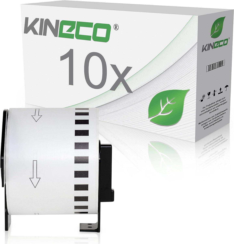 Kineco 10x Endlos-Etikett kompatibel für Brother DK22205 62mm x 30,48m 30,48m 30,48m für Brother P-Touch QL-500, 500A, 500BS, 500BW, 550, 560VP, 560YX, 570, 580N, 650TD, 710, 710W, 720NW, 1050N, 1060N B00YT79ZD8    Outlet Store  4164b8