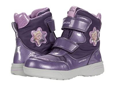Geox Kids Sveggen B ABX 3 (Little Kid/Big Kid) (Dark Violet/Mauve) Girl