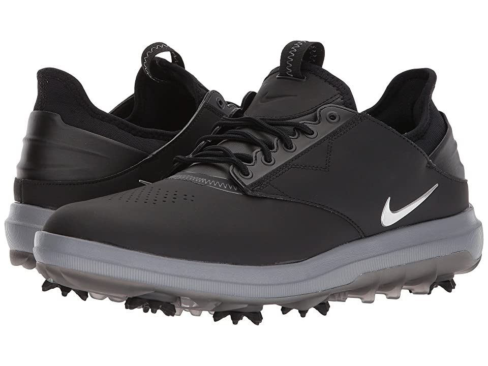Nike Golf Air Zoom Direct (Black/Metallic Silver) Men's Golf Shoes