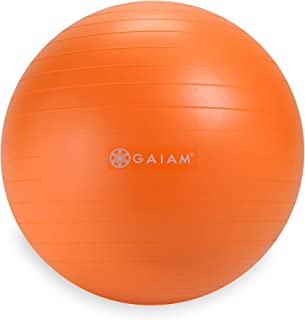 Gaiam Kids Balance Ball - Anti-Burst Exercise Stability Ball for Kids with Air Pump, 45cm