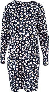 Handpicked by Birds Womens Knee Length Dresses Printed Long Sleeve Tshirt Dress