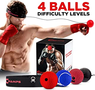 Champs MMA Boxing Reflex Ball - Boxing Equipment Fight Speed, Boxing Gear Punching Ball Great for Reaction Speed and Hand Eye Coordination Training Reflex Bag Alternative