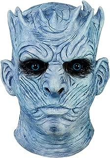 Game of Thrones Night's King White Walker Men's Full Head Mask Halloween Costumes Scary Mask for Men