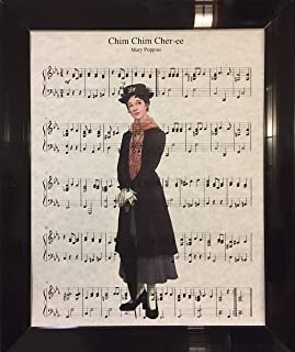 Ready Prints Chim Chim Cher-ee Mary Poppins Music Sheet Artwork Print Picture Poster Home Office Bedroom Nursery Kitchen Wall Decor - unframed