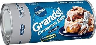 Pillsbury Grands!, Cinnamon Rolls with Cinnabon Cinnamon and Cream Cheese Icing, 5 Rolls, 17 oz. Can