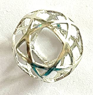 Pentasfera ciondolo in argento diametro cm 2