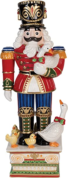 Fitz And Floyd Coleen Christian Burke Kennedy White House Christmas Figurine Red