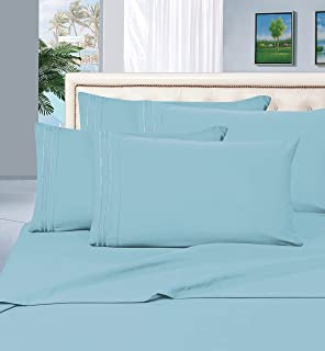 Elegant Comfort Luxury Wrinkle,Fade and Stain Resistant 1500 Thread Count Egyptian Quality 4-Piece Bed Sheet Set, Deep Poc...