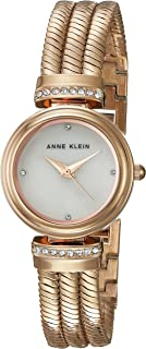 Anne Klein Women's AK/2758MPRG Swarovski Crystal Accented Rose Gold-Tone Chain Bracelet Watch