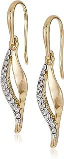 Mestige Women Glass Gold Selena Earrings with Swarovski Crystals