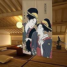 LIGICKY Noren Japanese Style Doorway Curtain Ukiyoe Geisha Girls Painting Long Type Door Tapestry Asian Window Treatment f...