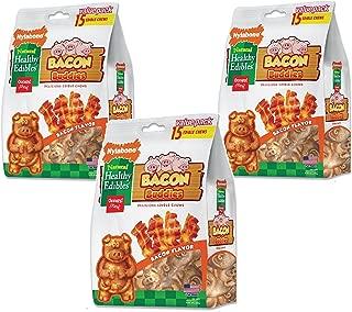 Nylabone Healthy Edibles Bacon Buddies Value 3 Shapes 15pk