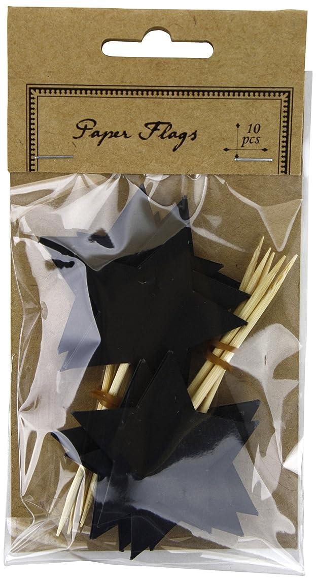 Kel-Toy Star-Shaped Chalkboard Paper Flags, 1.5 by 3.25