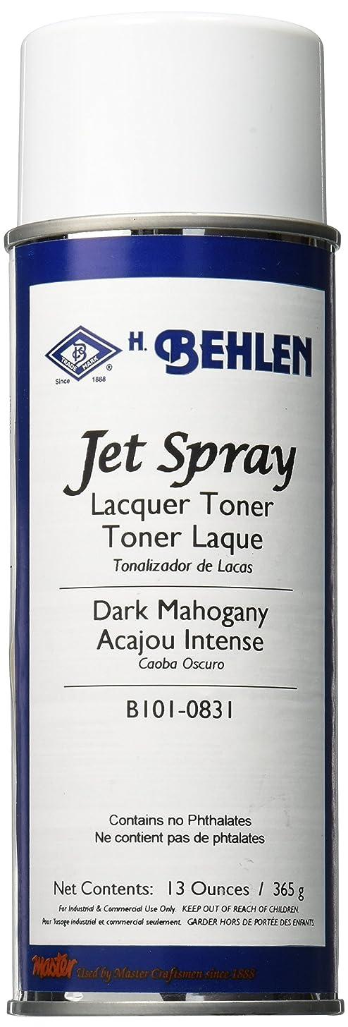 Behlen Jet Spray Lacquer Toner - Dark Mahogany, 13 ounces - B101-0831