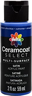 Delta Creative 04024 Ceramcoat Select Multi-Surface Paint, 2 oz, Ultra Blue