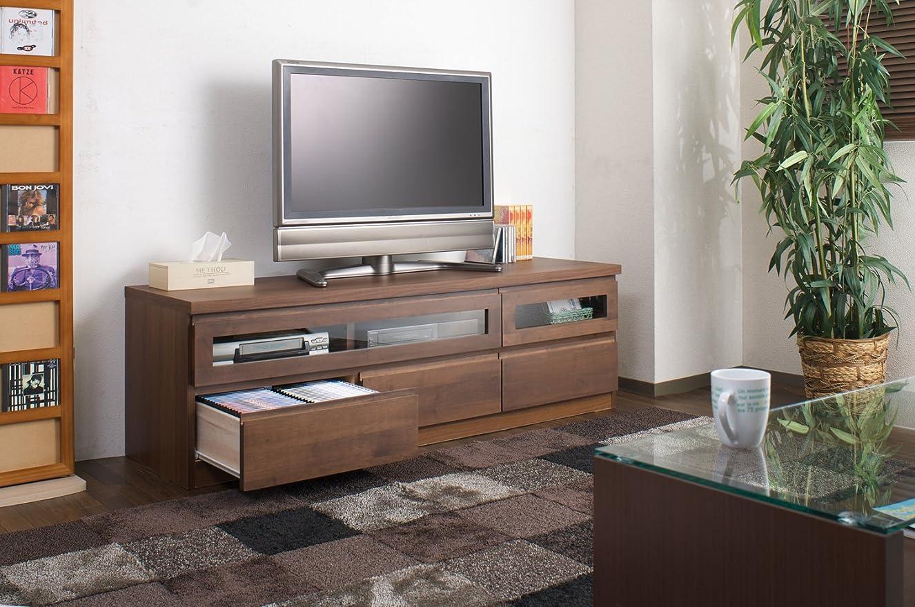 倒産スピン医薬品テレビボード 150cm テレビ台 ローチェスト 木製 ◆ チェスト 収納 健康家具 ブラウン (ブラウン)