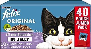 Purina Felix - Lote de 40 bolsas de 100 g de comida húmeda para gatos