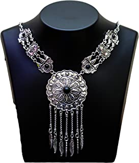 AAKARSHI Oxidised Silver Jewellery Indian Handmade Tribal Statement Necklace