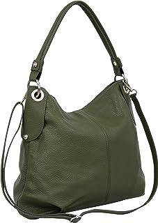 bce77e37f78be AMBRA Moda Damen echt Ledertasche Handtasche Schultertasche Beutel Shopper  Umhängtasche GL012
