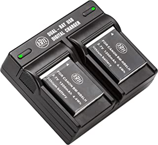 BM Premium Pack of 2 NB6L, NB-6L, NB-6LH Batteries and USB Dual Battery Charger Kit For Canon PowerShot S120, SX170 IS, SX260 HS, SX280 HS, SX500 IS, SX510 HS, SX520 HS, SX530 HS, SX540 HS, SX600 HS, SX610 HS, SX700 HS, SX710 HS, ELPH 500 HS, D10, D20, D30 Digital Camera