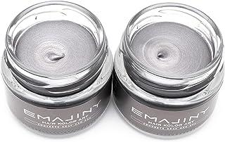 【お得な2個セット】EMAJINY Concrete Gray Ash 24A エマジニー コンクリートグレイアッシュカラーワックス 濃銀 36g 【日本製】【無香料】【シャンプーでサッと洗い流せる1日グレイヘア】