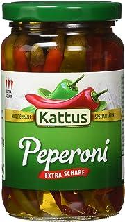 Kattus Rote und grüne Peperoni - Typ Balkan, extra scharf, 4er Pack 4 x 320 g