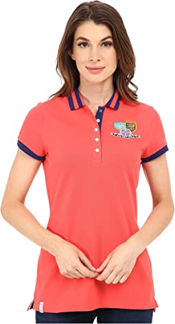 Patch and Embroidered Embellished Polo