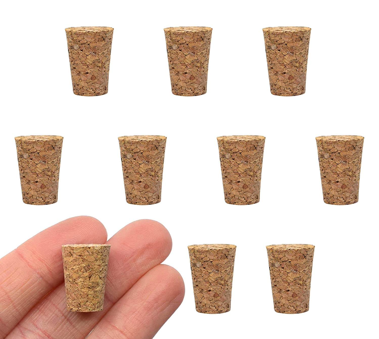 10PK Cork Stoppers Size #2-9mm Bottom 13mm Dallas Mall Be super welcome - Length Top 17mm