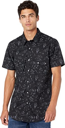 Dale Brisby Short Sleeve Snap Novelty Print B1S9422