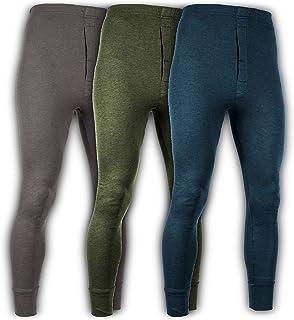 579df768ac4 Andrew Scott Men's 3 Pack Premium Cotton Base Layer Long Thermal Underwear  Pants