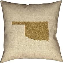 ArtVerse Katelyn Smith 45.72 سم × 45.72 سم للاستخدام الداخلي والخارجي، وسادة قماشية مقاومة للماء والعفن